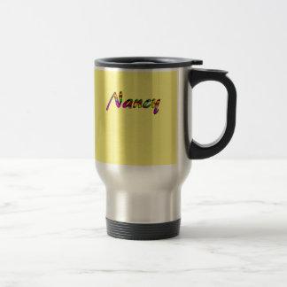 Nancy Yellow Stainless Steel Travel Mug