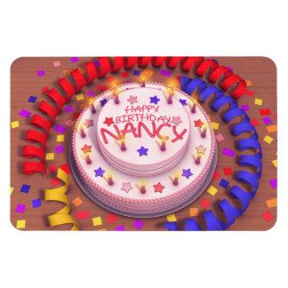 Nancy's Birthday Cake Magnet