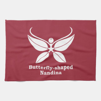 nandina Mariposa-formado Toalla