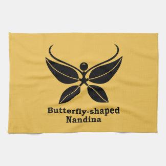 nandina Mariposa-formado Toallas De Mano