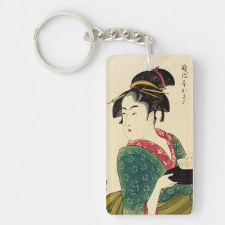 Naniwaya okita Single-Sided rectangular acrylic keychain