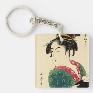 Naniwaya okita Single-Sided square acrylic keychain