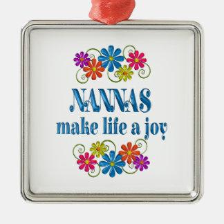 Nanna Joy Metal Ornament