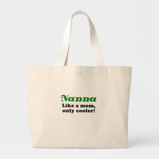 Nanna Like a Mom Only Cooler Canvas Bags