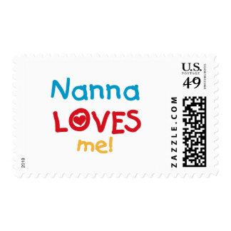 Nanna me ama las camisetas y los regalos timbre postal