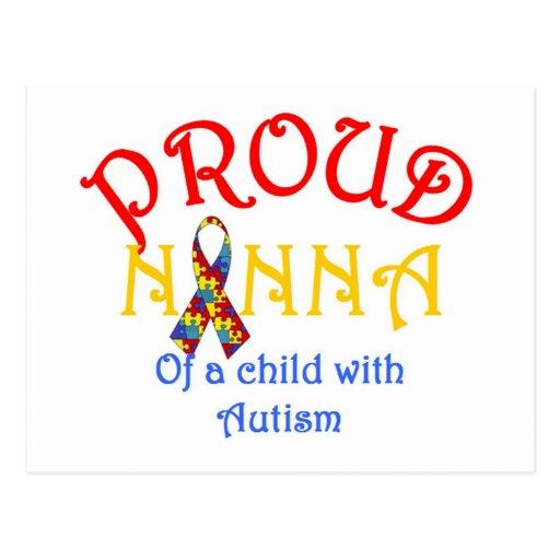 Nanna orgulloso de un niño con autismo postales