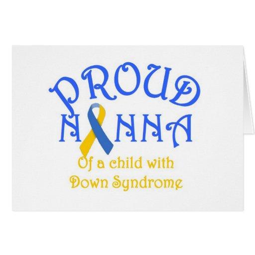 Nanna orgulloso de un niño de Síndrome de Down Tarjeta De Felicitación