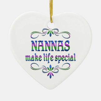 Nannas Make Life Special Ceramic Ornament
