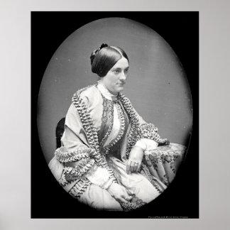 """Nannie"" Macomb Daguerreotype 1850 Poster"