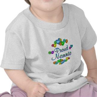 Nannie orgulloso camisetas