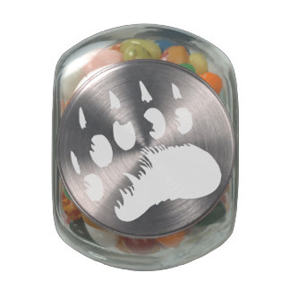 Nannup Tumaa (Polar Bear's Paw Print) Glass Candy Jars