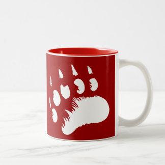 Nannup Tumaa (Polar Bear's Paw Print) Two-Tone Coffee Mug