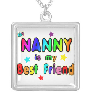 Nanny Best Friend Silver Plated Necklace
