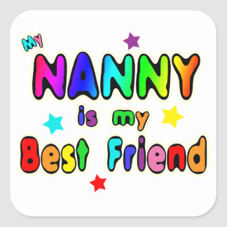 Nanny Best Friend Square Sticker
