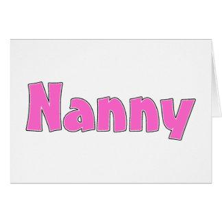 Nanny Card