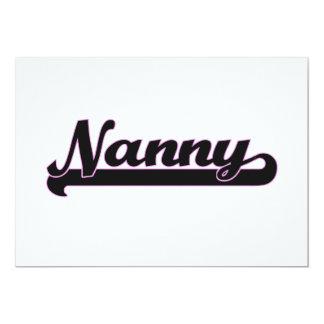 Nanny Classic Job Design 5x7 Paper Invitation Card