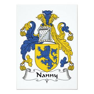 Nanny Family Crest 5x7 Paper Invitation Card