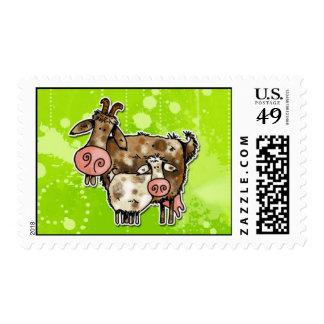 nanny goat stamp