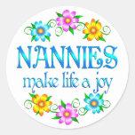 Nanny Joy Round Stickers
