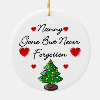 Nanny Memorial Ceramic Christmas Tree Ornament