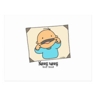 Nanny - nanny - boo boo postcard
