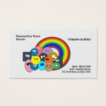 Nanny Rainbow Children of the World Business Card