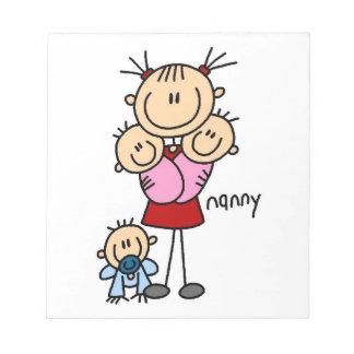 Nanny Stick Figure Notepad
