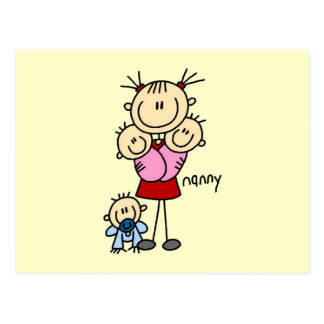 Nanny Stick Figure Postcard