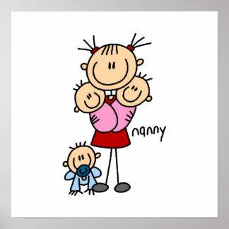 Nanny Stick Figure Poster