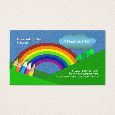 Nanny Super Colorful Pencil Rainbow Business Card