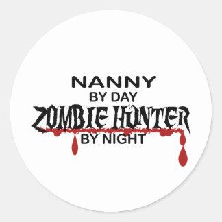 Nanny Zombie Hunter Classic Round Sticker