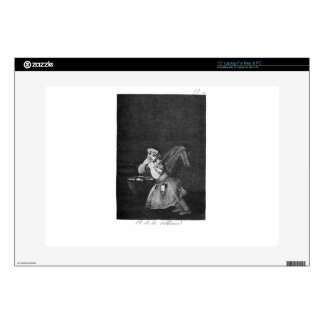"Nanny's boy by Francisco Goya 15"" Laptop Decal"