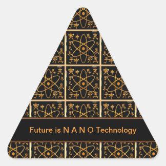 NANO Technology is future Triangle Sticker