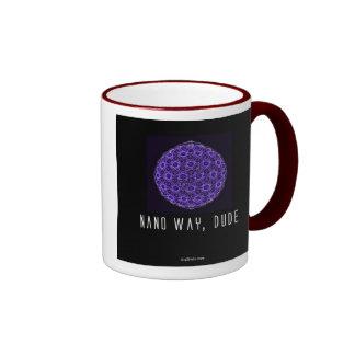 Nano way, Dude (2) Ringer Coffee Mug