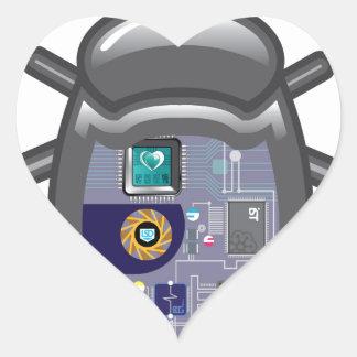 NanoBug Pegatina En Forma De Corazón