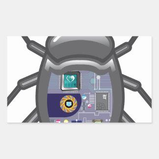 NanoBug Pegatina Rectangular