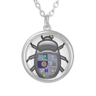 NanoBug Round Pendant Necklace