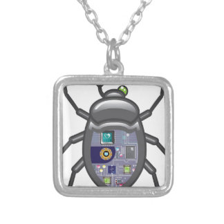 NanoBug Square Pendant Necklace