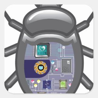 NanoBug Square Sticker