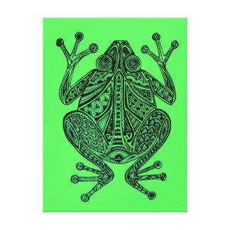 Nanook the Frog Green Canvas Print