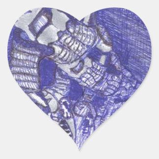 nanoorganicrobotic pegatina en forma de corazón