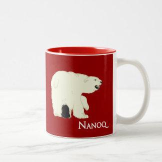 Nanoq (Polar Bear) Two-Tone Coffee Mug