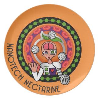 """""""Nanotech Nectarine"""" Plate"""