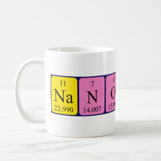 Nanotech periodic table name mug