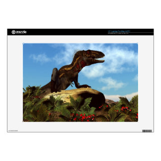 "Nanotyrannus dinosaur resting - 3D render 15"" Laptop Decal"