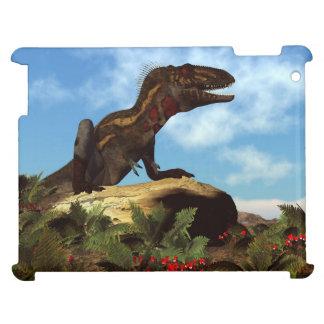 Nanotyrannus dinosaur resting - 3D render iPad Case