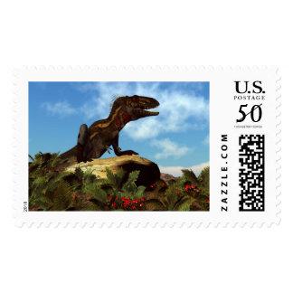 Nanotyrannus dinosaur resting - 3D render Postage