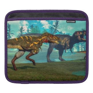 Nanotyrannus hunting small tyrannosaurus sleeve for iPads