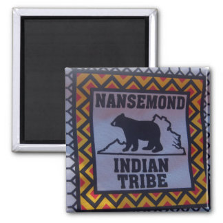 Nansemond Indian Tribe 2 Inch Square Magnet