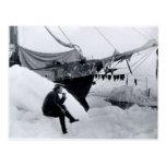 Nansen en el ártico, con Fram Postal